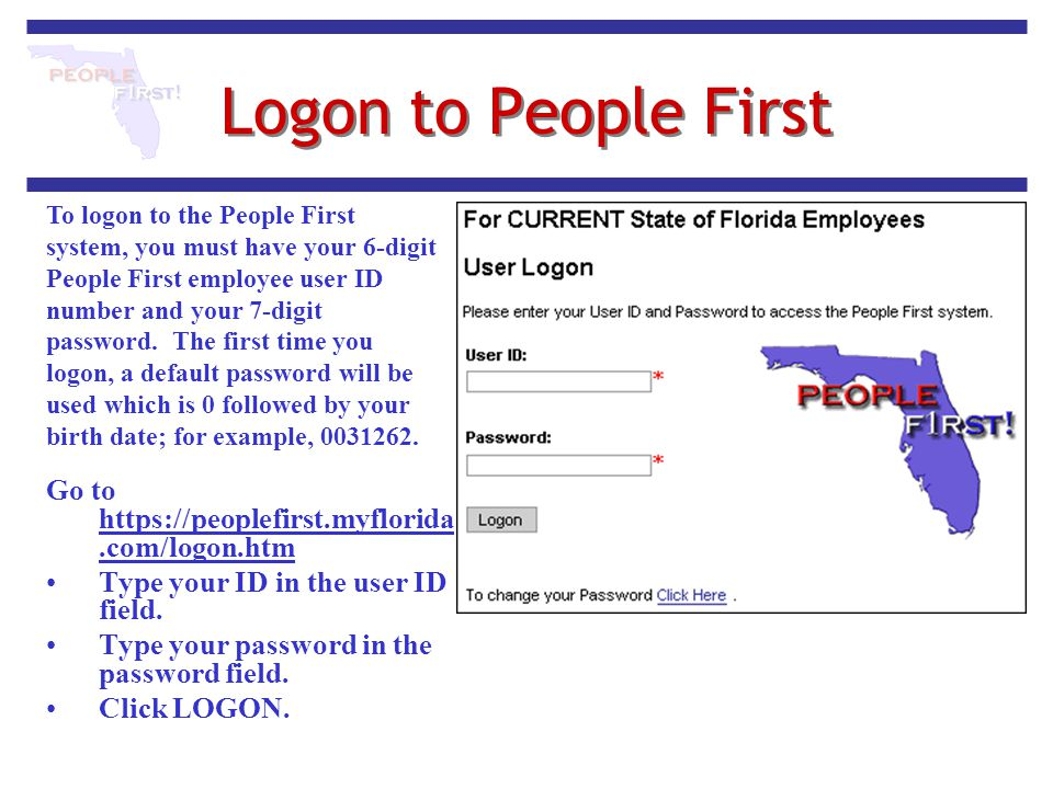 Logon to People First