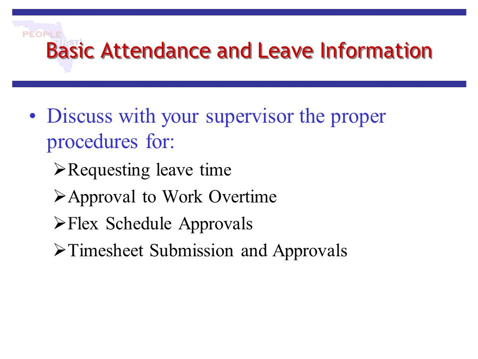 Basic Attendance and Leave Information