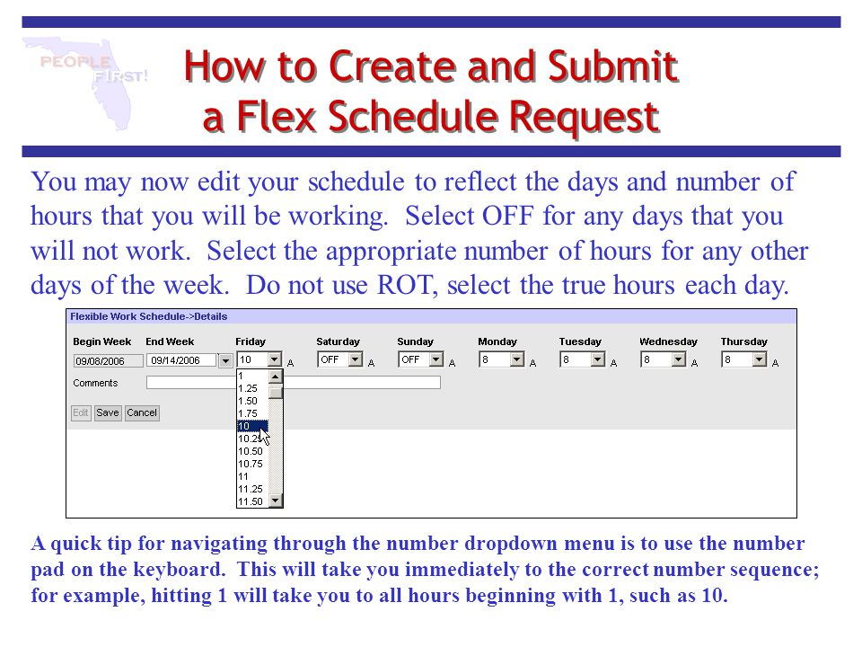 How to Create and Submit a Flex Schedule Request