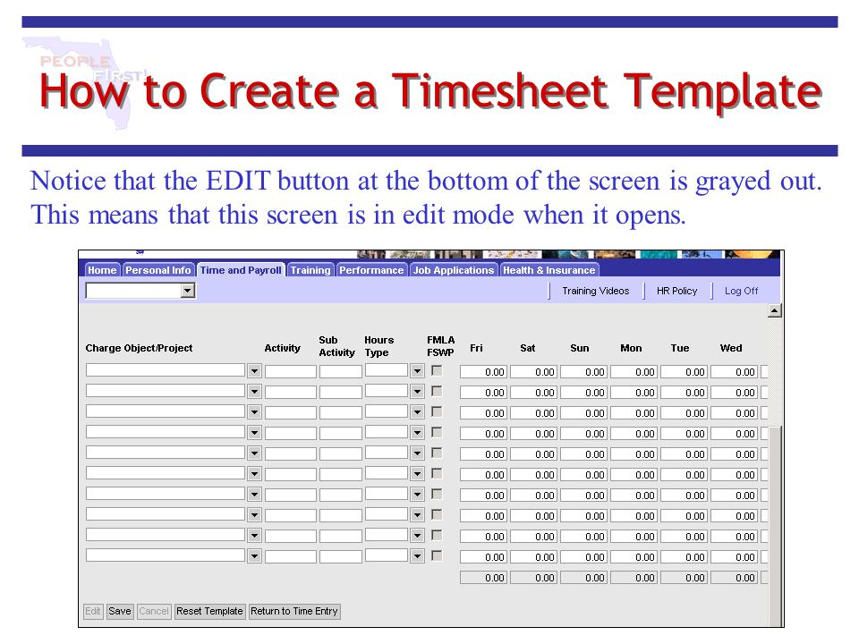 How to Create a Timesheet Template