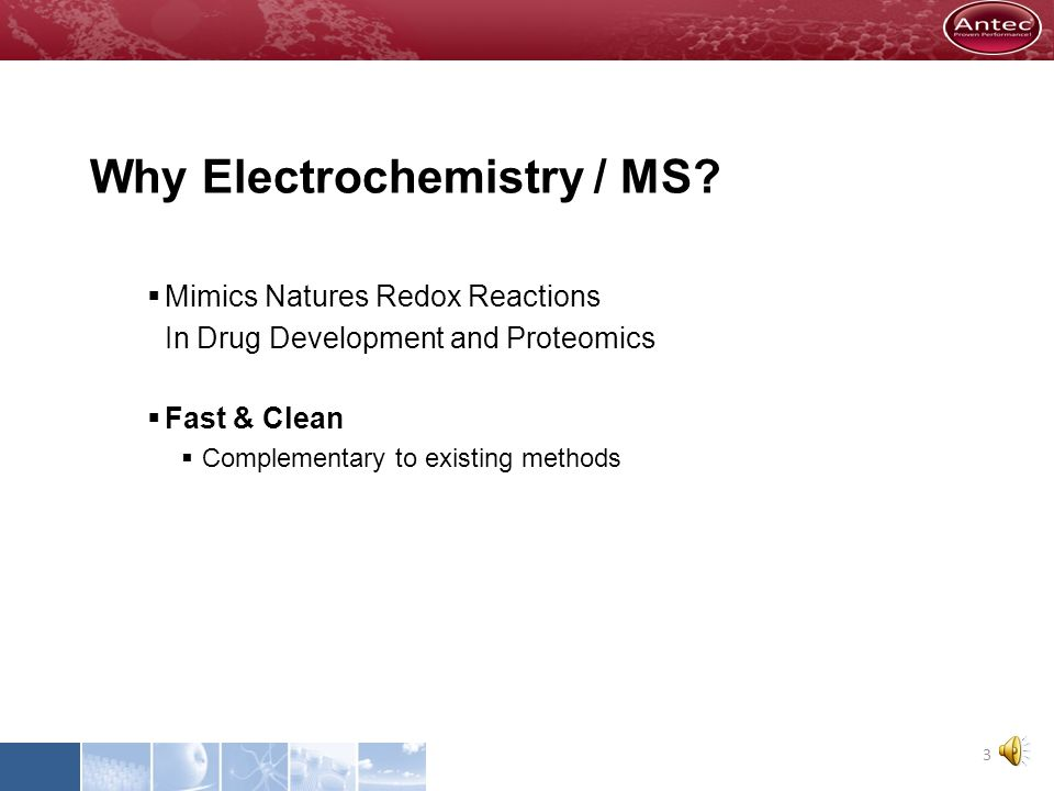 Why Electrochemistry / MS