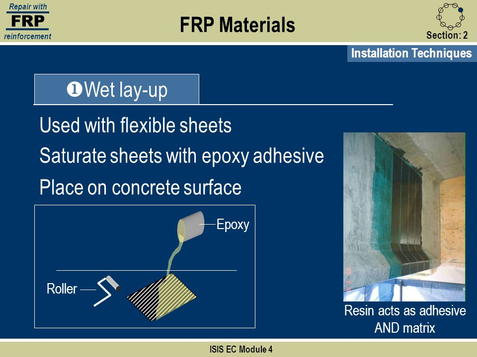 Resin acts as adhesive AND matrix