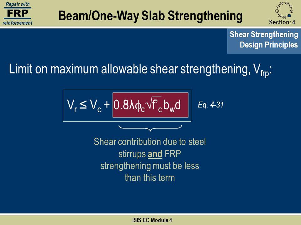 Beam/One-Way Slab Strengthening