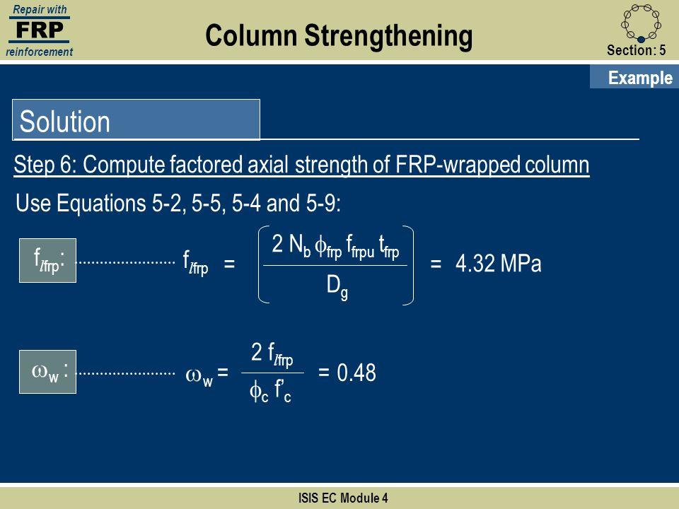 Column Strengthening Solution
