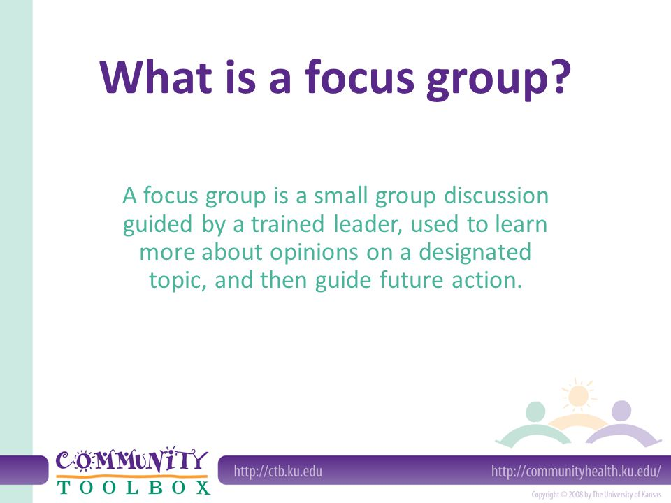 What is a focus group