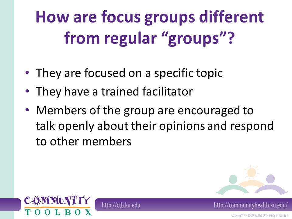 How are focus groups different from regular groups
