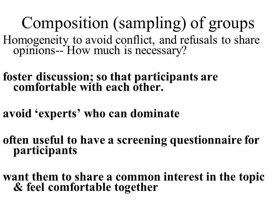 Composition (sampling) of groups