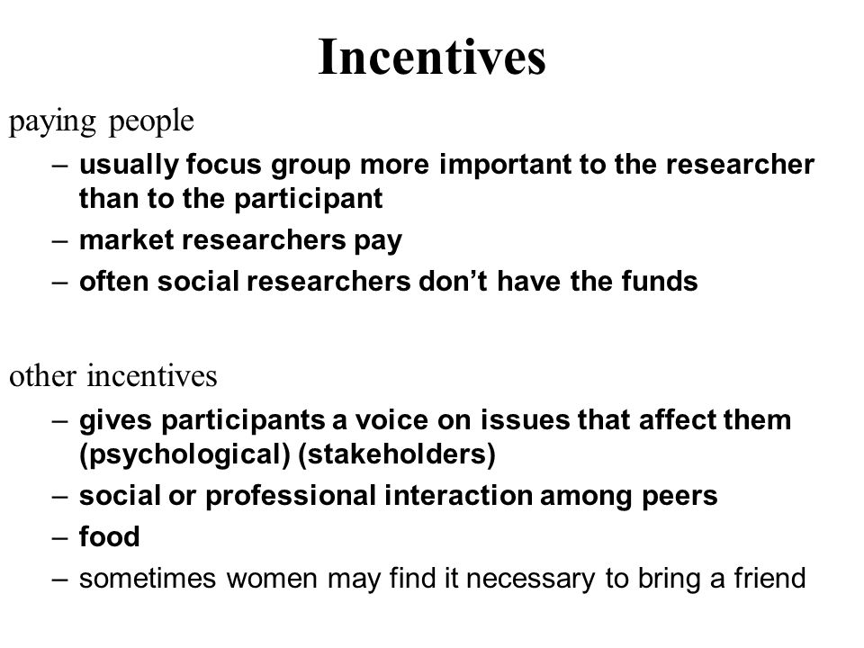Incentives paying people other incentives