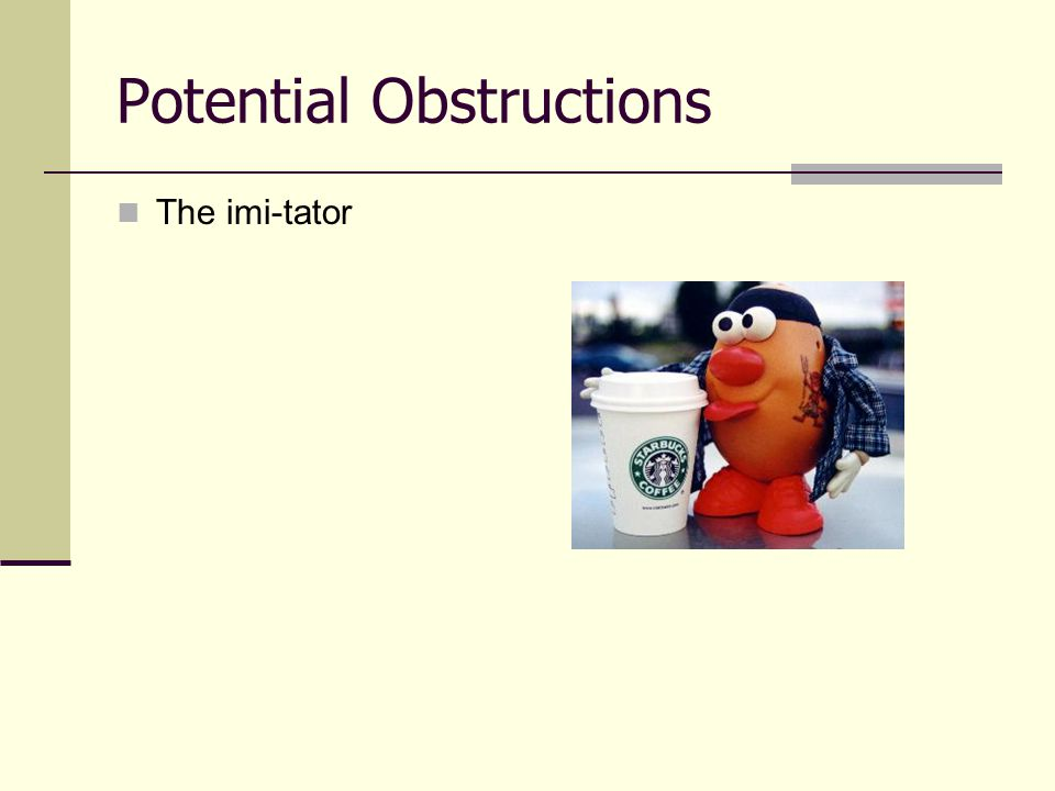 Potential Obstructions
