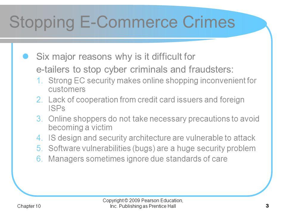 Stopping E-Commerce Crimes
