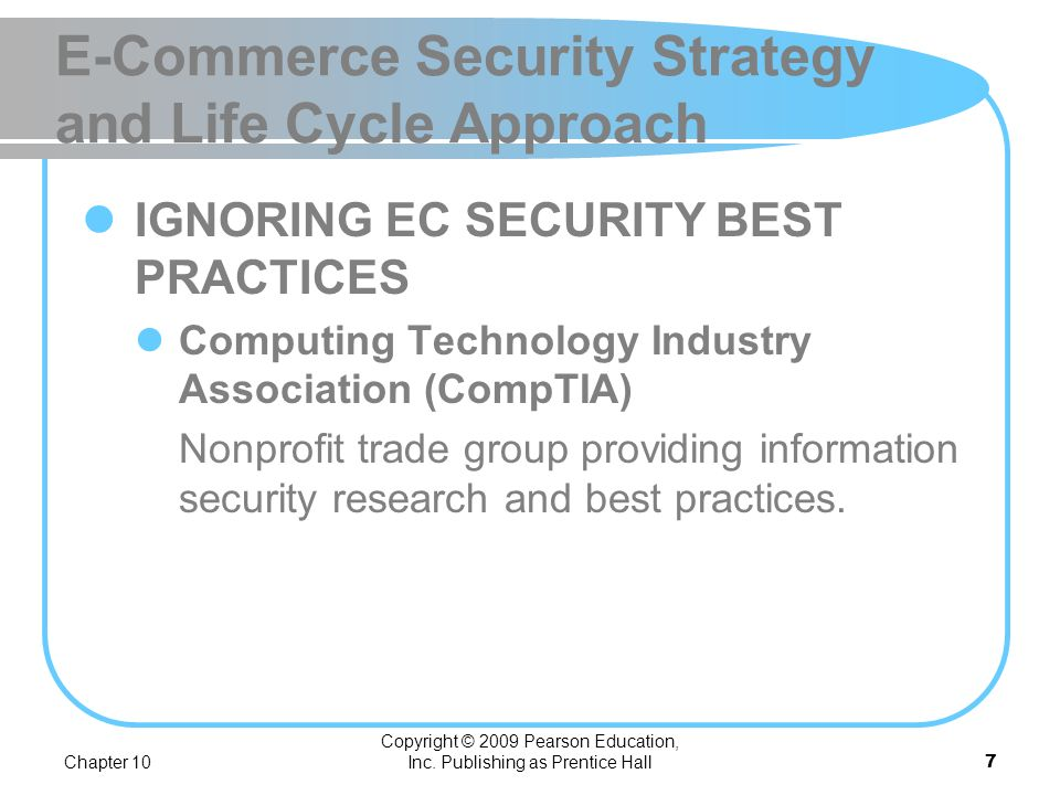 E-Commerce Security Strategy and Life Cycle Approach