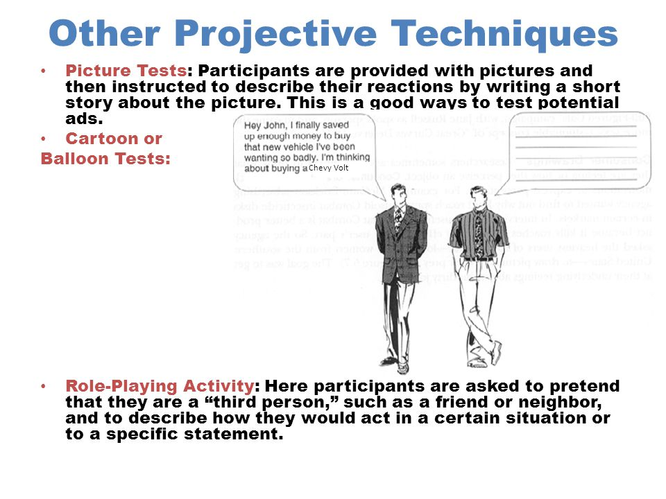 Other Projective Techniques