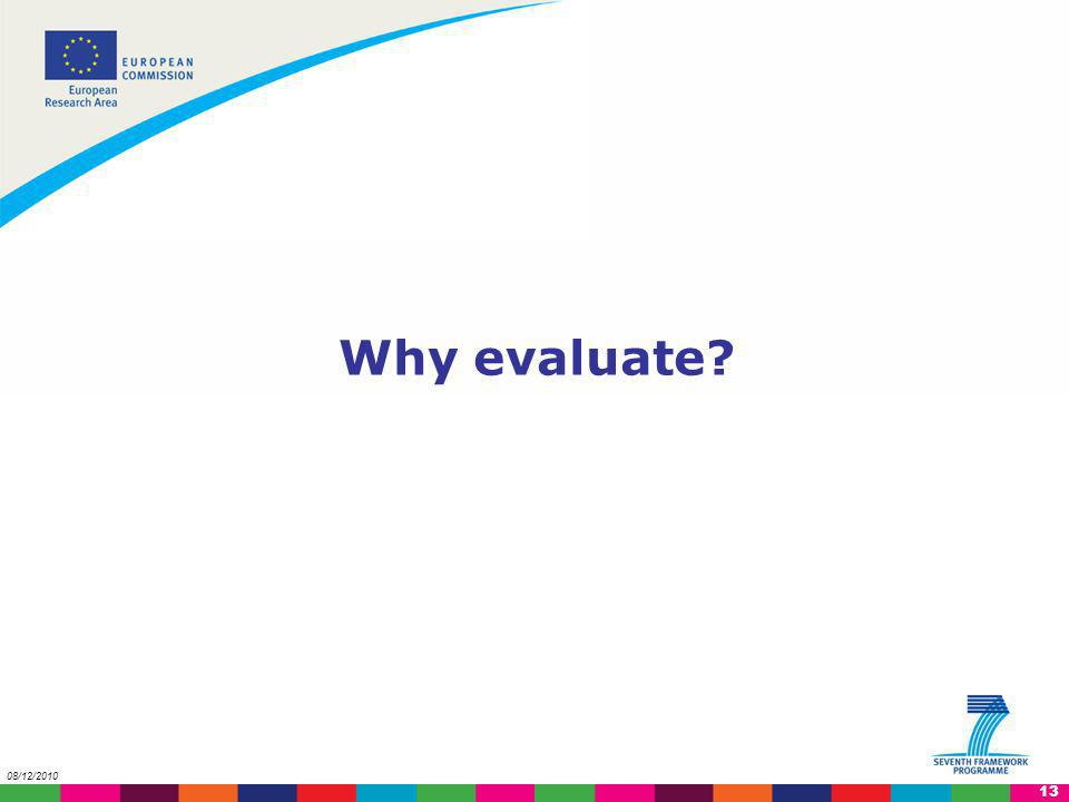 Why evaluate 08/12/2010