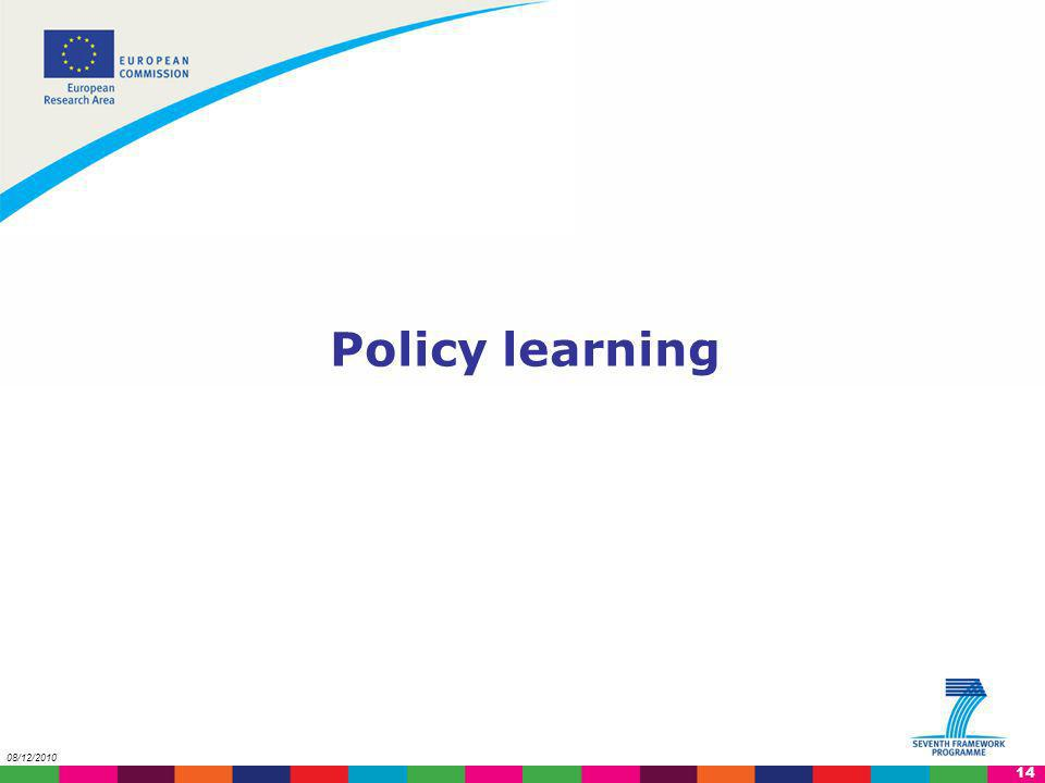 Policy learning 08/12/2010