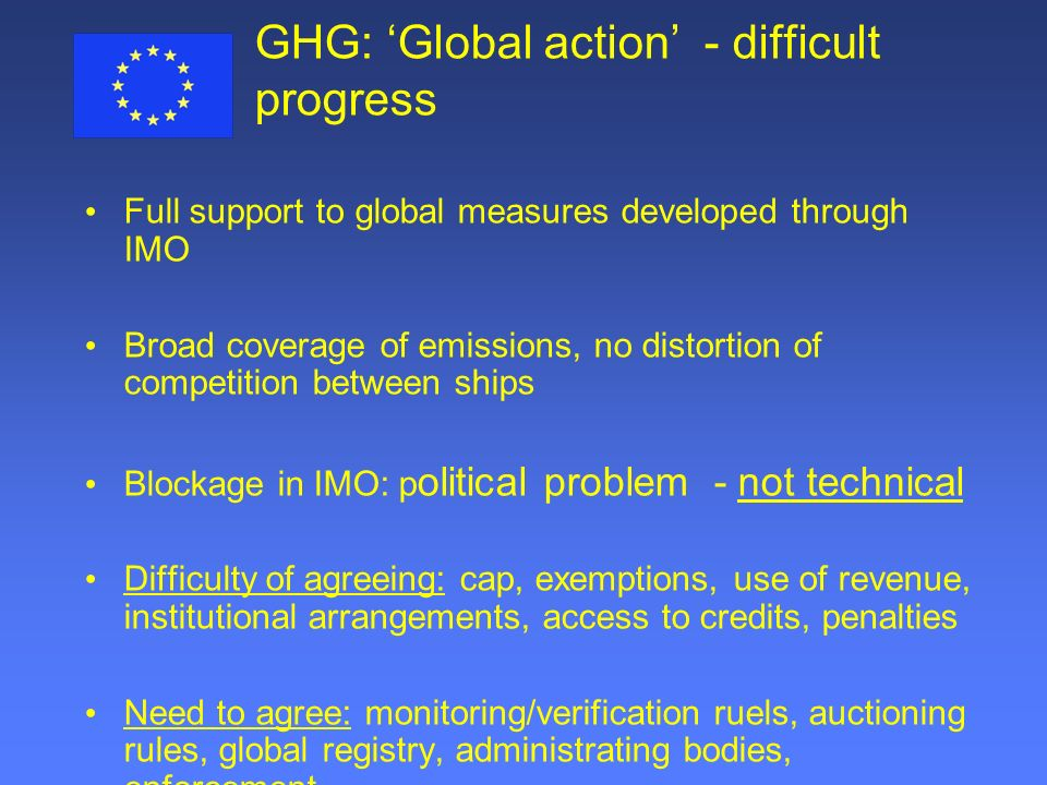GHG: 'Global action' - difficult progress