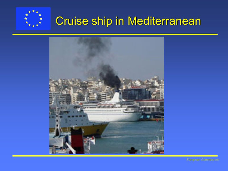 Cruise ship in Mediterranean