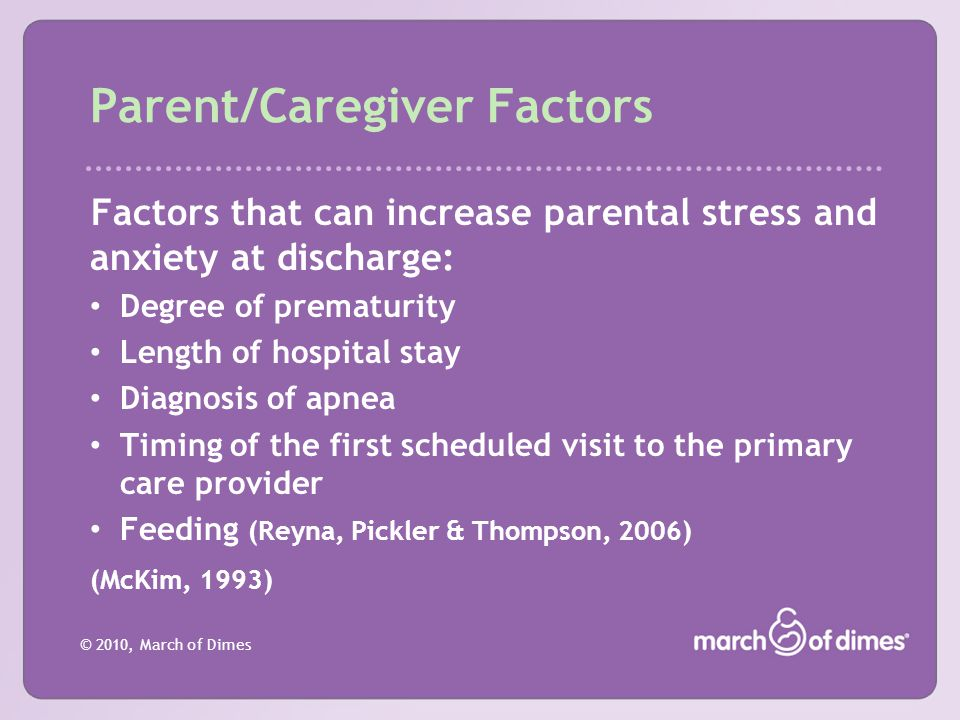 Parent/Caregiver Factors