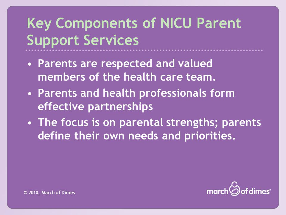 Key Components of NICU Parent Support Services