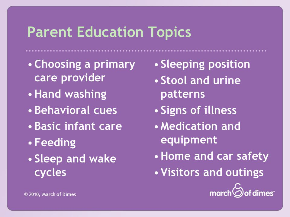 Parent Education Topics