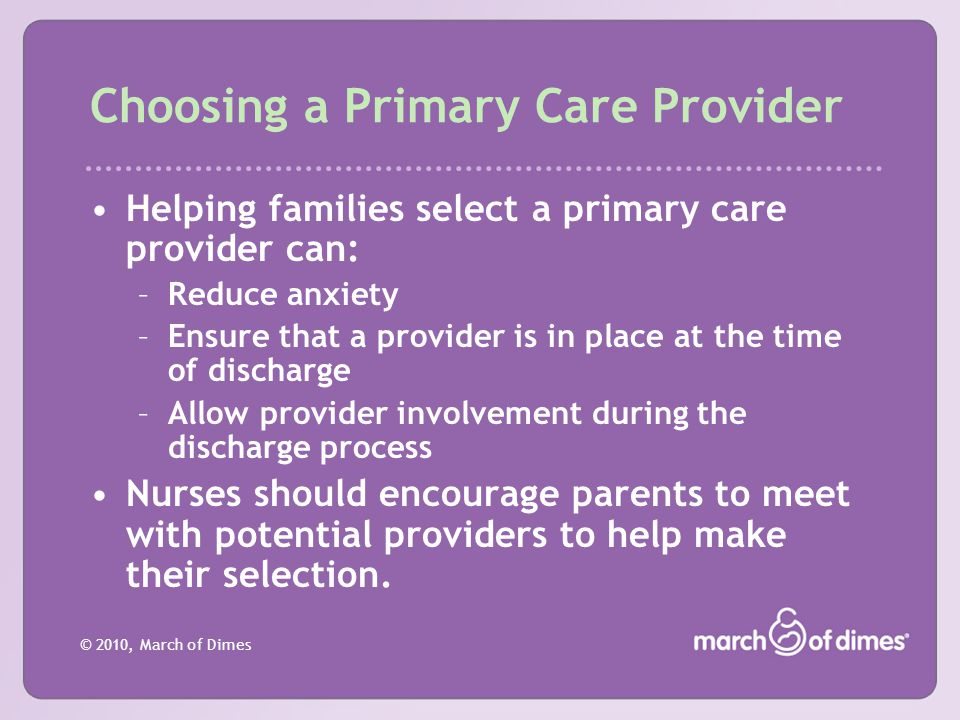 Choosing a Primary Care Provider