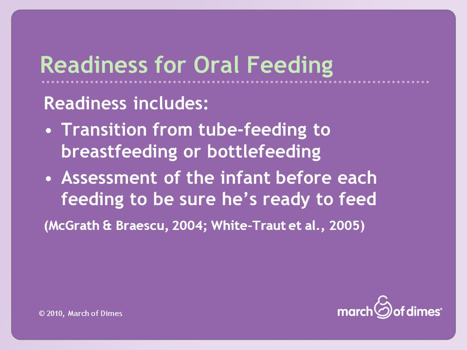 Readiness for Oral Feeding