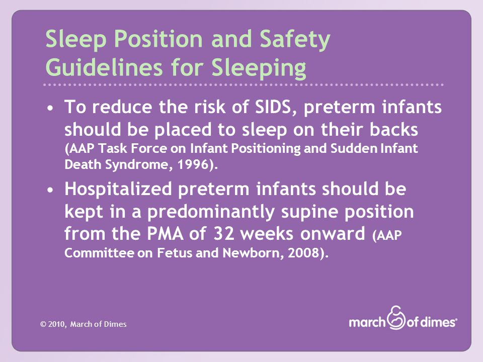 Sleep Position and Safety Guidelines for Sleeping
