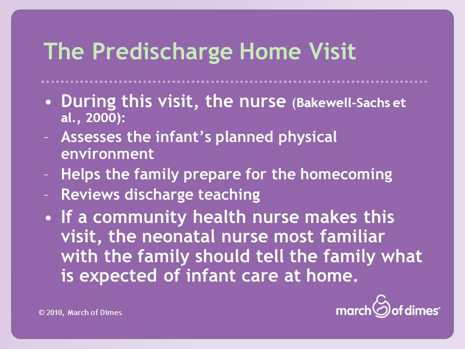 The Predischarge Home Visit