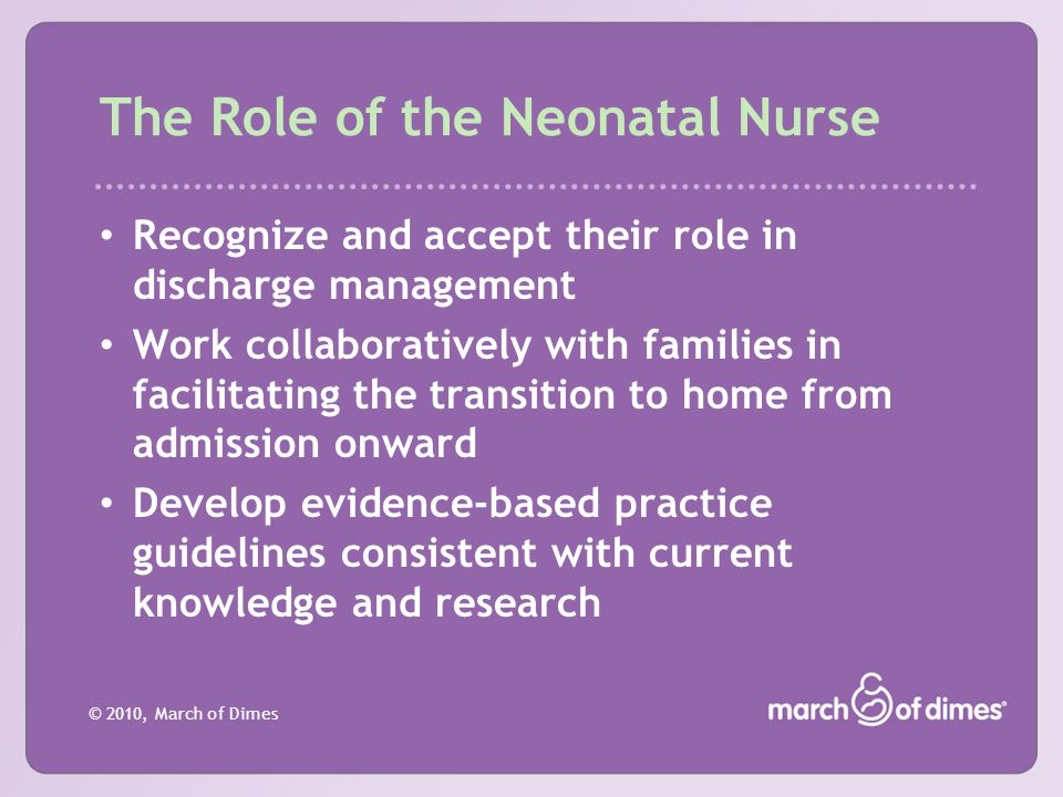 The Role of the Neonatal Nurse