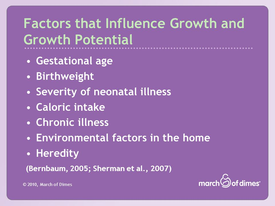 Factors that Influence Growth and Growth Potential