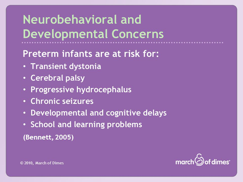 Neurobehavioral and Developmental Concerns