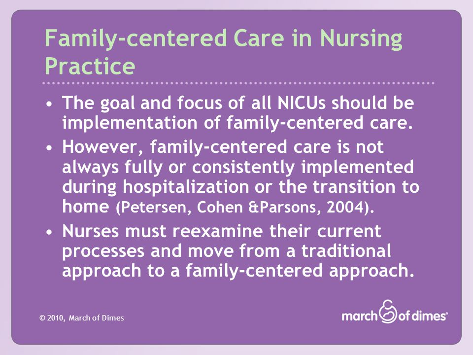 Family-centered Care in Nursing Practice