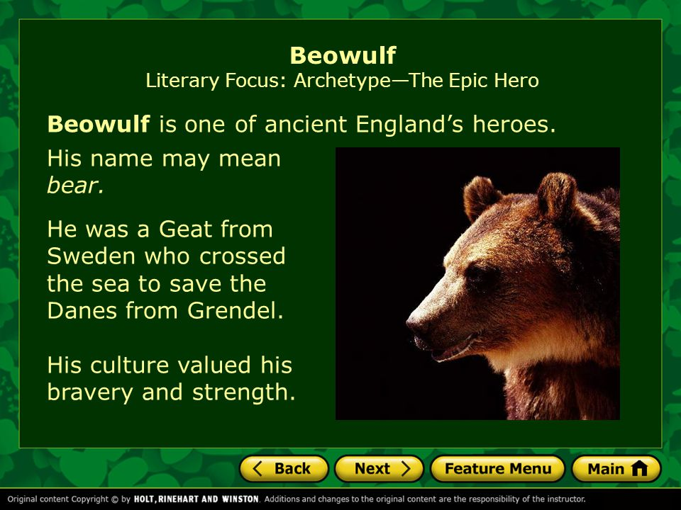 a focus on the heroic man of the anglo saxon times in the epic poem beowulf Beowulf : an anglo-saxon epic poem - ebook written by anonymous read this book using google play books app on your pc, android, ios devices  reminded of the prowess of the national hero of geatland the poem closes  he is respected, well-known, and admired among the elite of chiril, but wulder demands he narrow his focus and follow his.