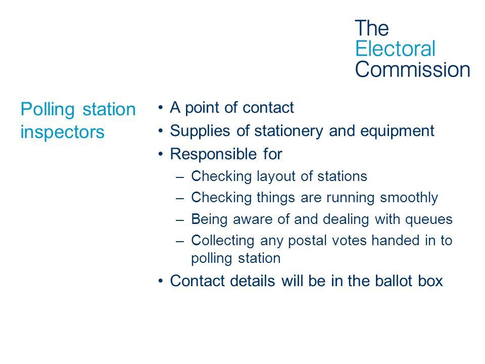 Polling station inspectors