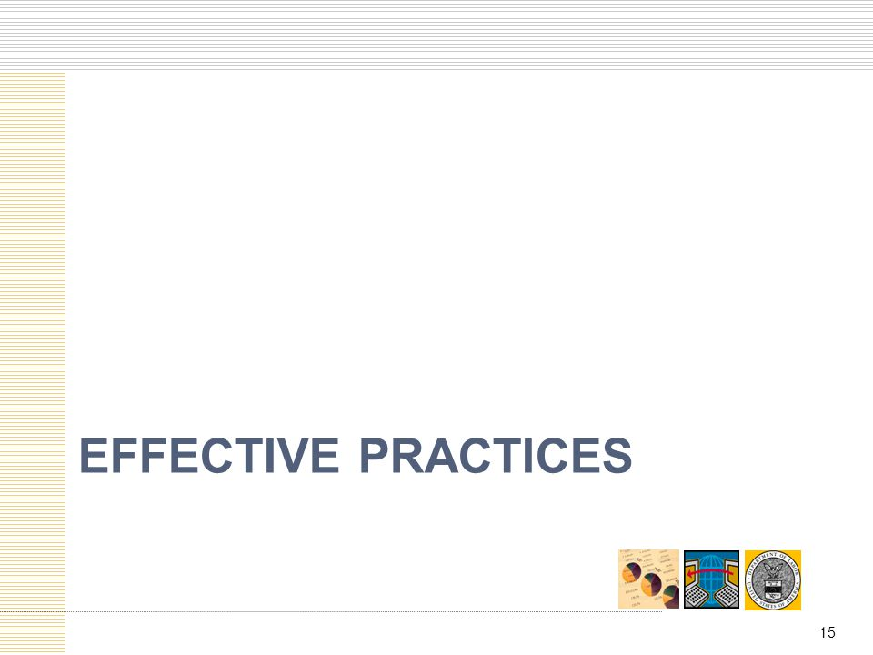 Effective practices