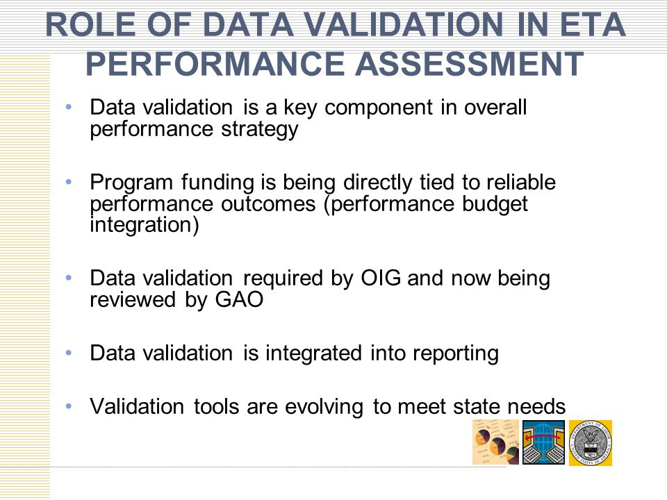 ROLE OF DATA VALIDATION IN ETA PERFORMANCE ASSESSMENT