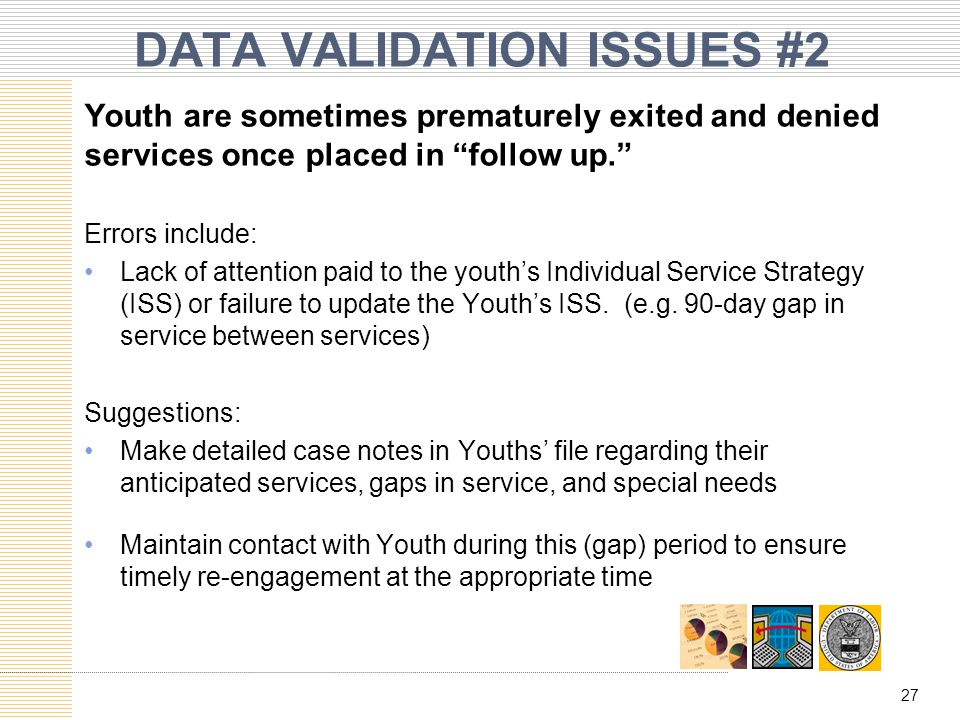 DATA VALIDATION ISSUES #2