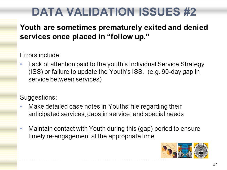 DATA VALIDATION ISSUES #2