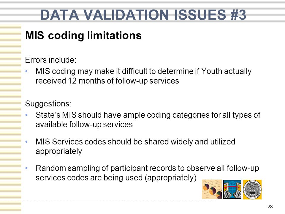 DATA VALIDATION ISSUES #3