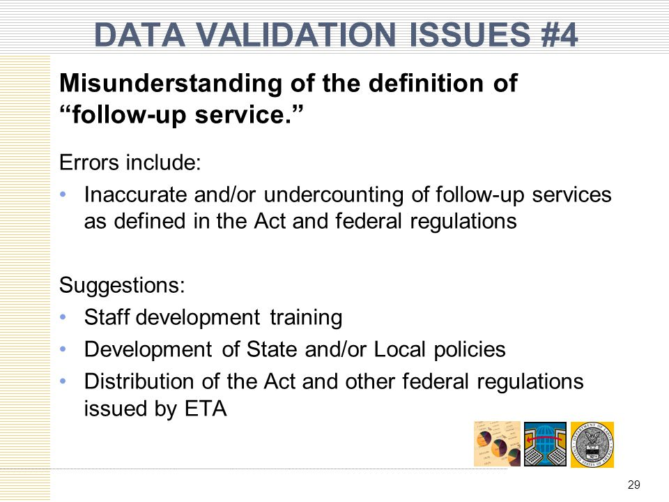 DATA VALIDATION ISSUES #4