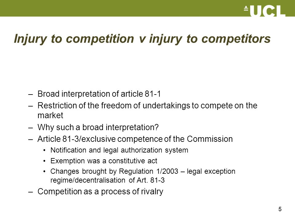 Injury to competition v injury to competitors