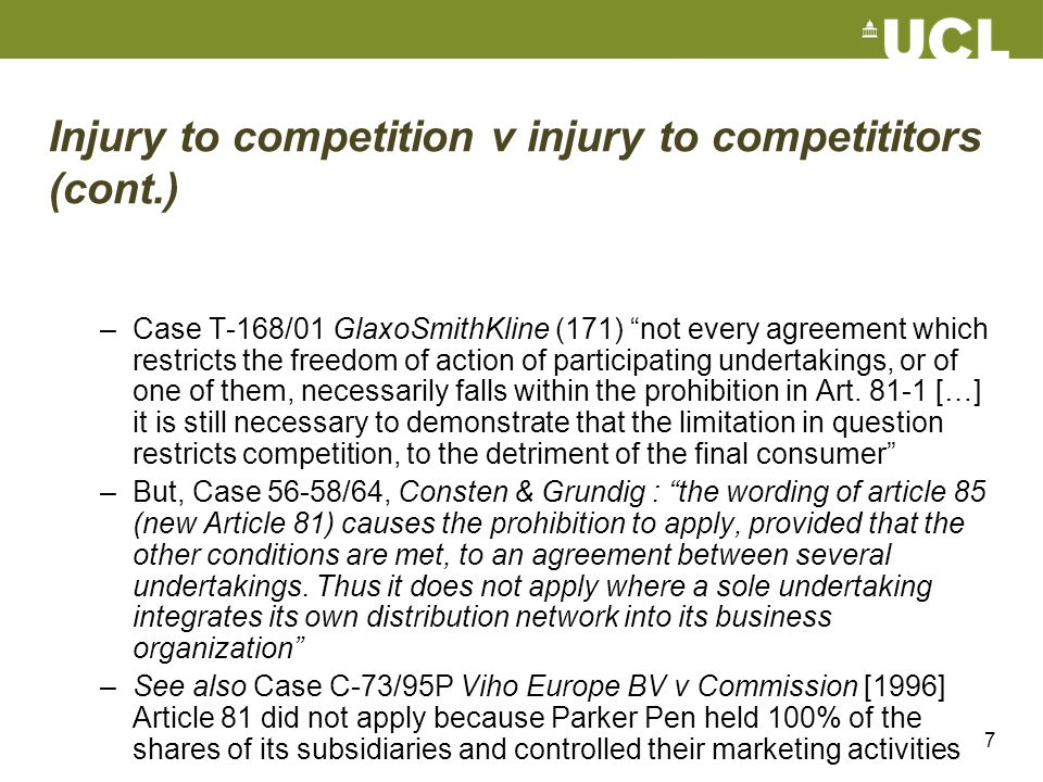 Injury to competition v injury to competititors (cont.)