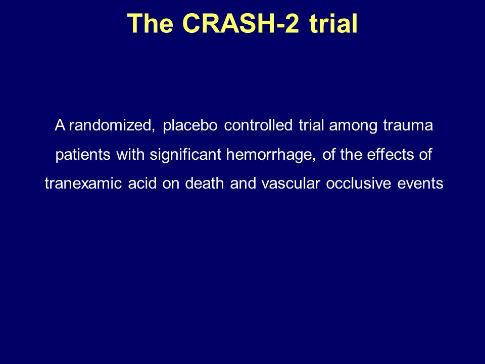 The CRASH-2 trial