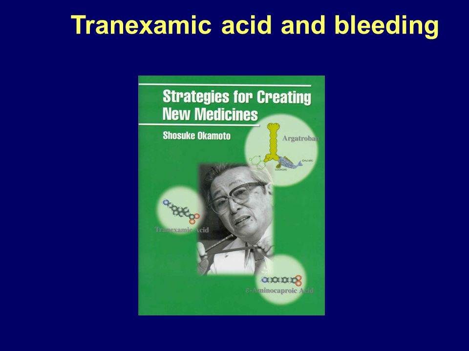 Tranexamic acid and bleeding