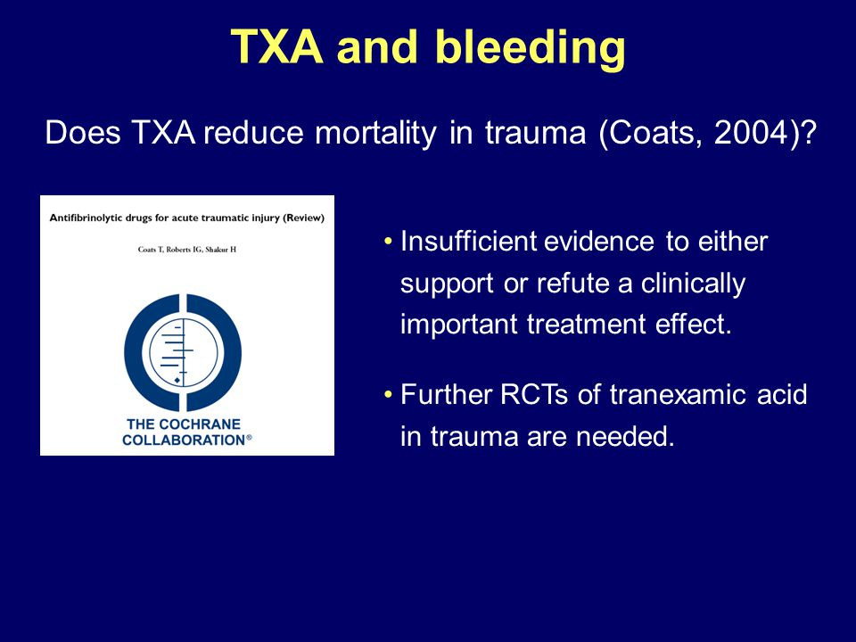 Does TXA reduce mortality in trauma (Coats, 2004)