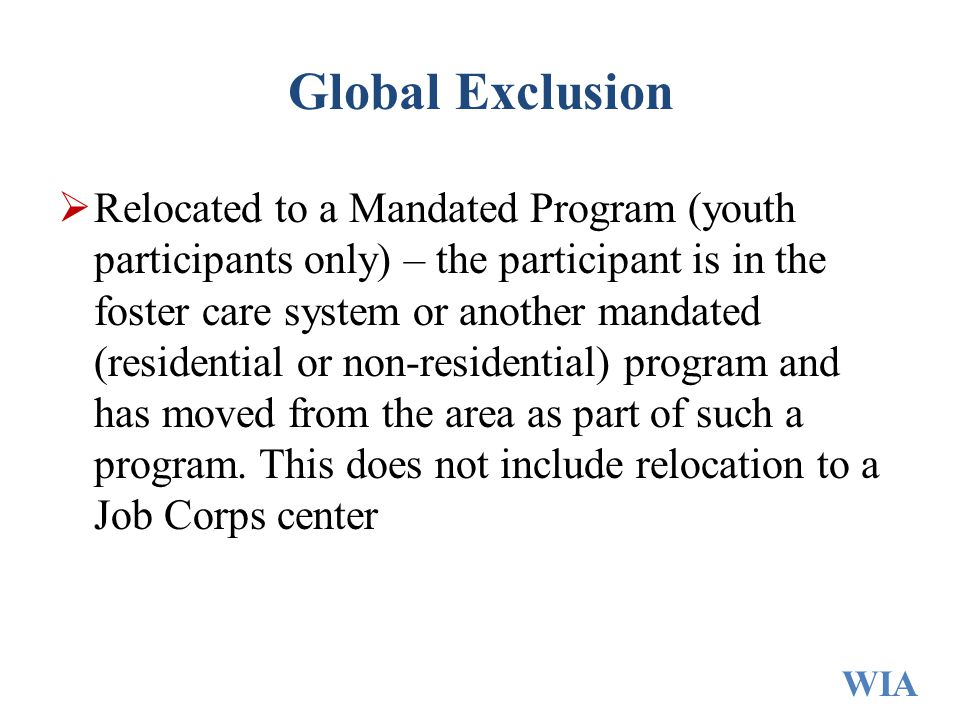 Global Exclusion