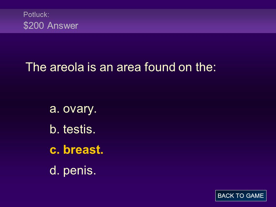 The areola is an area found on the: