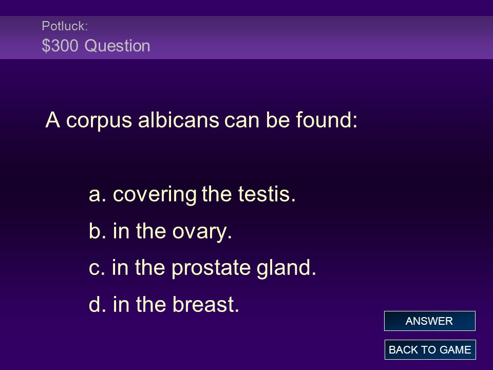 A corpus albicans can be found: