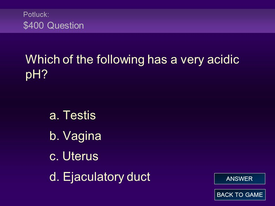 Which of the following has a very acidic pH