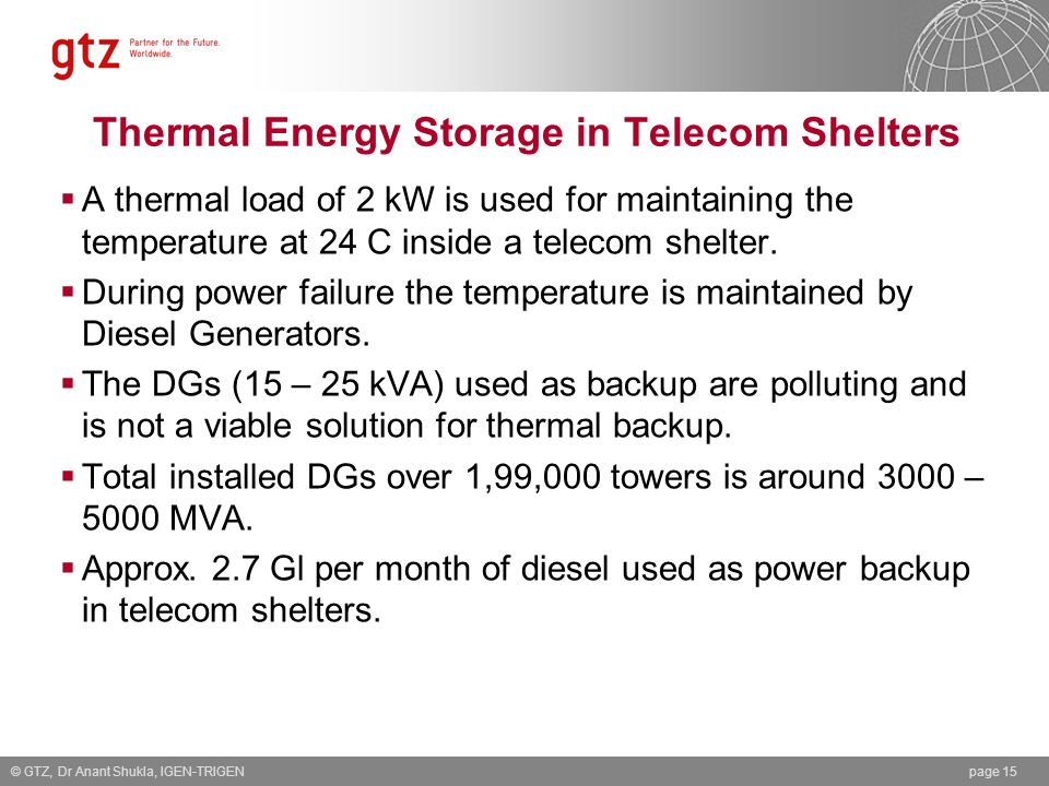 Thermal Energy Storage in Telecom Shelters