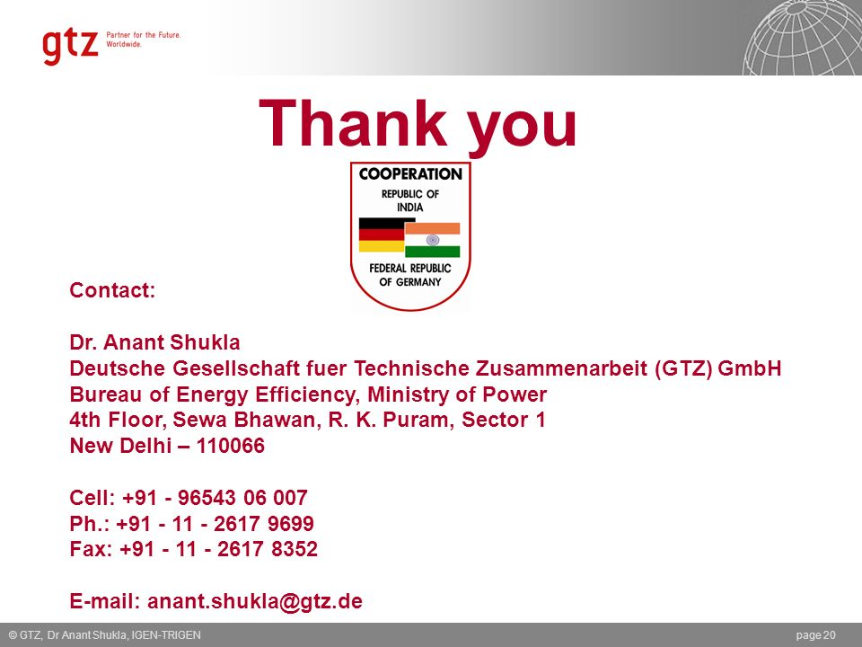 Thank you Contact: Dr. Anant Shukla